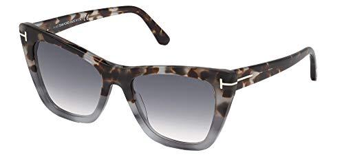 Tom Ford Gafas de Sol POPPY-02 FT 0846 Blue Havana/Smoke Blue Shaded 53/18/140 unisex