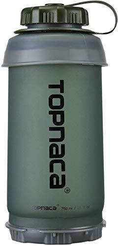 Topnaca Bouteille d'eau Pliable Pliable, 750 ML / 2.9 oz BPA Gratuit réutilisable dissimulé Pliant léger Compact pour Camping randonnée Randonnée Escalade Voyage activités en Plein air