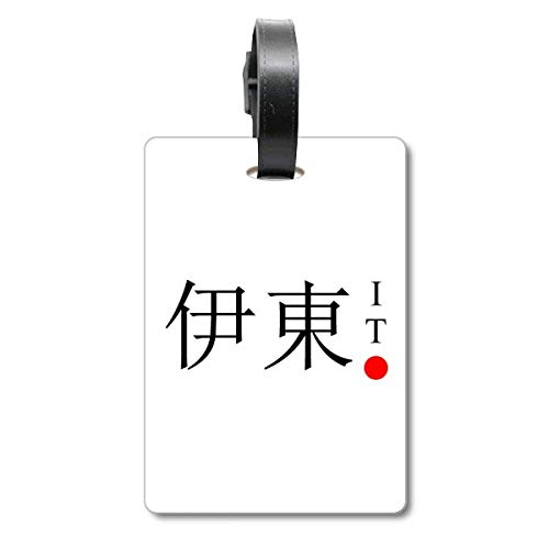 Ito Japaness City Name Red Sun Flag Cruise Suitcase Bag Tag Tourister Identification Label
