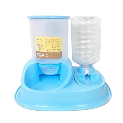 Automated Feed dispensers senior feeder voederkom, automatisch voer voor honden en katten met 2 maaltijden, voederstations, geen hondenvoer of kattenvoer, voederbak voor hu blauw
