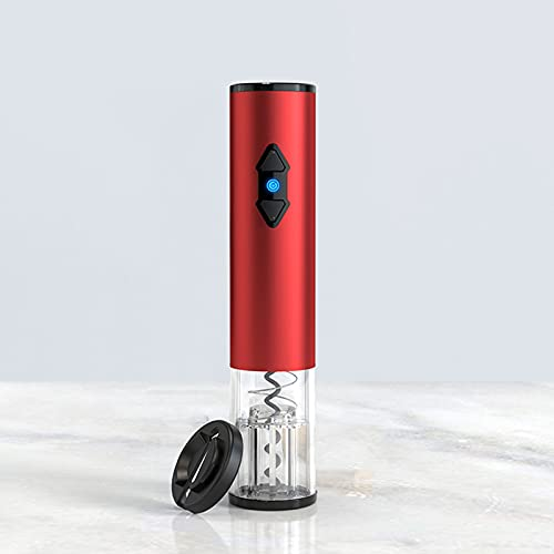 Sacacorchos Eléctrico Metal Acero Inoxidable Batería Completamente Automático Rojo Mate (Metal Tipo B)