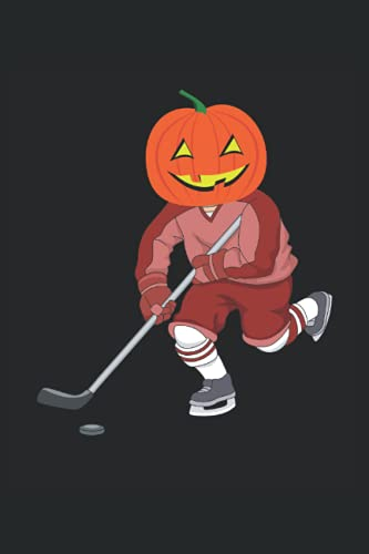 Funny Halloween Ice Hockey Pumpkin: Blank Lined Journal Notebook to Write in your Ideas, Plans, Memories, Perfect Gift for Men, Women and Kids