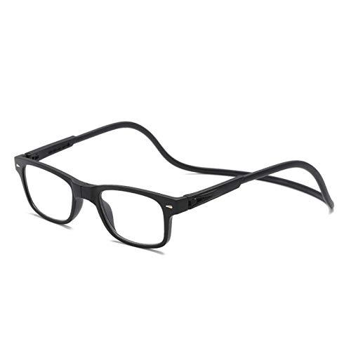 CNZXCO Gafas De Lectura, Mismo Estilo para Hombres Y Mujeres, Gafas De Lectura Portátiles con Cuello Colgante, Gafas Ópticas Plegables para Personas Mayores, Gafas De Lectura Magnética