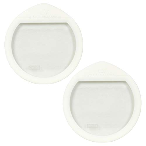 Pyrex Ultimate OV-7402 White Round Glass Storage Lids - 2 Pack