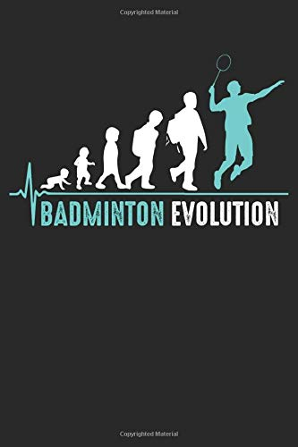 Badminton Evolution: Notebook/Diary/Organizer/Dotted pages/ 6x9 inch
