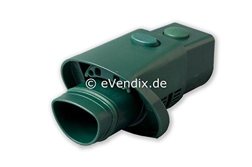 eVendix Adapter Wappen- auf Ovalanschluss passend für Vorwerk Kobold VK 118 119 120 121 122 Tiger VT 250 251 mit Strom (wie AD 12)