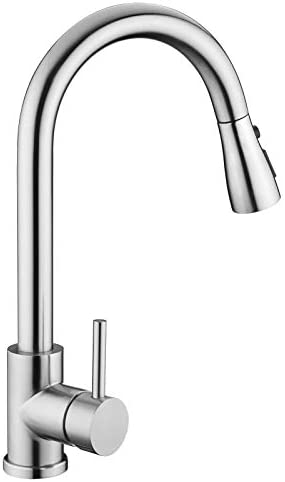 Kitchen Sink Faucet Kitchen Faucet Stainless Steel with Pull Down Sprayer Brushed Nickel Commercial product image