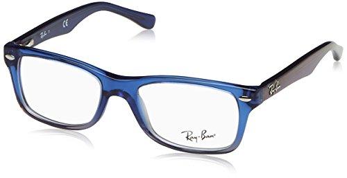 RAYBAN JUNIOR Ray-Ban Unisex Brillengestell RY1531, Blau (Blue Gradient Iridescent Grey), 46