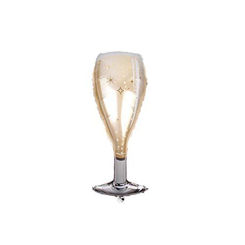 Valentinstag Luftballons |1pc große Champagner Tasse Bierflasche Folie Luftballons Prinz Prinzessin Babyparty Kinder Geburtstag Jubel Biere Hochzeitsfeier Dekor-B12-ca. 45x100cm