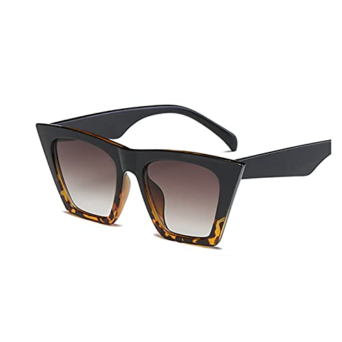 Moda Negro Gato Ojo Gafas de Sol Mujeres diseñador de Marca Sexy Elegante Sol Gafas para Las Mujeres Tonos de Revestimiento Femenino UV400 (Lenses Color : Black Leopard)
