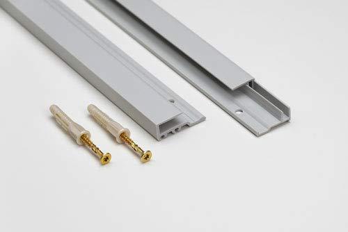 Spiegelmontage Profil HPVC Befestigung für Spiegel Wandspiegel Spiegelwände bis 6 mm Stärke (200)
