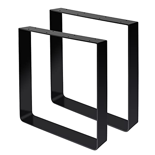 Signstek 2 patas de mesa de metal con horquillas, patas de muebles, patas de metal, patas para muebles, patas intercambiables, para mesa de comedor, mesa de café, escritorio (16 pulgadas)