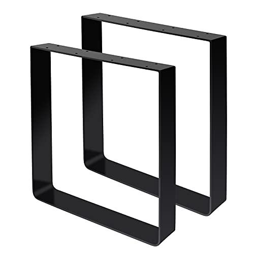 Signstek Patas de mesa para muebles, patas de metal, patas de horquilla para muebles, patas intercambiables, 400 mm,...