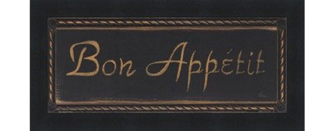 中世の裁判官サンプルBon Appetit Noir by Grace Pullen?–?10?x 4インチ?–?アートプリントポスター LE_639564-F101-10x4