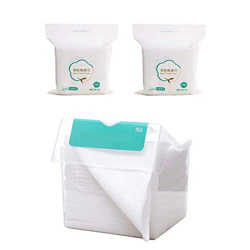 50 stks/doos Gezicht Weefsel Wegwerp Handdoeken voor Wassen Katoenen Pads met 50 stks vervanging vulling 20 * 20 cm