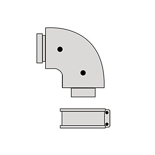 Beretta 1101819 Curva 90 Gradi per Caldaie a Condensazione, Grigio