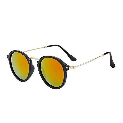 RUK Gafas de Sol señoras Hombres Gafas de Sol Redondas Retro