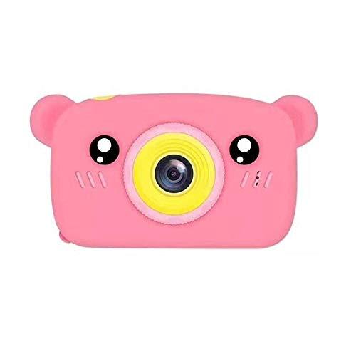 XinQing-niños cámara Cámara portátiles Infantil cámara Digital 1080P HD de vídeo Digital, 1200W píxeles, la cámara Mini Toy Cute Bear, Regalo de cumpleaños de Navidad