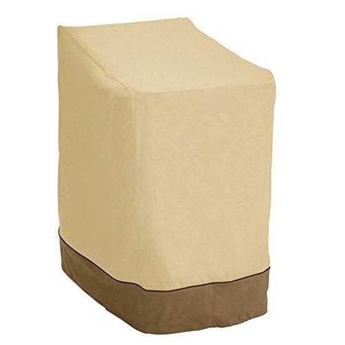 NMDD Fundas para sillas de jardín Fundas para sillas apilables para jardín al Aire Libre Funda Impermeable para sillas de salón Funda Resistente al desgarro Oxford 25.533.545 Pulgadas Beige