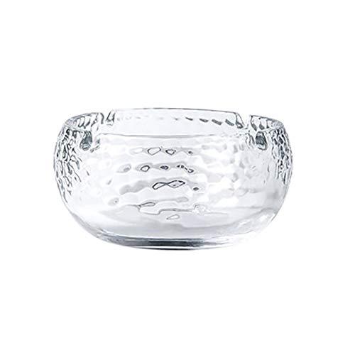 WGG Oficina Hogar Cenicero Cenicero de Cristal Textura cenicero de Vidrio a...