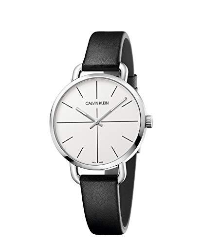 Calvin Klein Reloj Analógico-Digital para Unisex Adultos de Cuarzo con Correa en Cuero K7B231CY