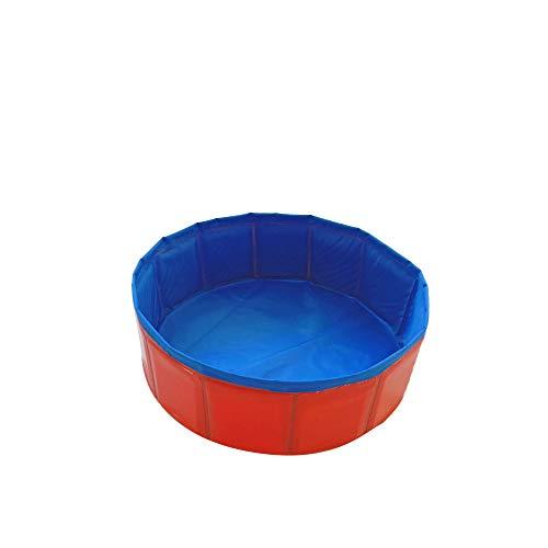Decdeal Faltbarer Hundepool Hundebadewanne Planschbecken Swimmingpool für Hunde Größe Optional (rot, 30X10)