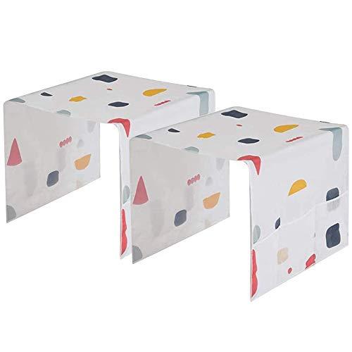 Moonmoonlala - Copertura antipolvere per frigorifero, 2 pezzi, impermeabile, antipolvere, copertura superiore per lavatrice, con tasche laterali multifunzionali, organizer per cucina, casa