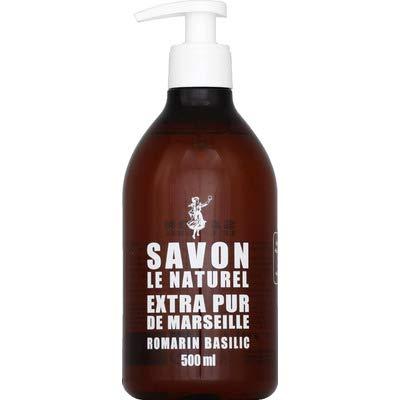 Savon le Naturel Savon extra pur de Marseille romarin basilic - Le flacon de 500 ml
