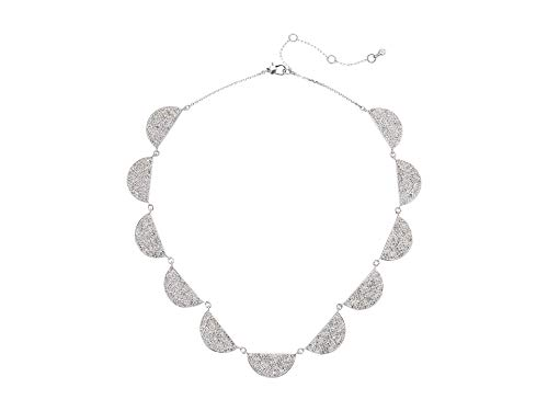 Kate Spade New York Mod Scallop Pave Necklace Clear One Size