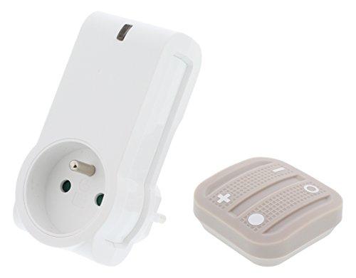 nodon ak-2–1-03Soft Remote Fernbedienung kabellos mit Typ E Smart Plug kompatibel EnOcean Cosy grau