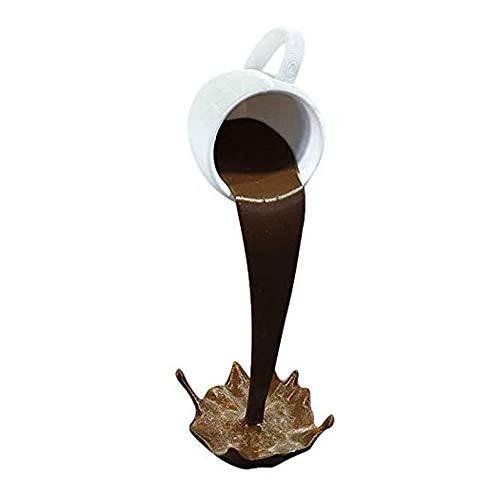 iScooter Floating Spilling Coffee Cup Skulptur, Floating Coffee Mug Ornament, Floating Coffee Mug Dekor, Spilling Magic Pouring Splash Coffee Mug für Raum, Büro, kreatives Geschenk