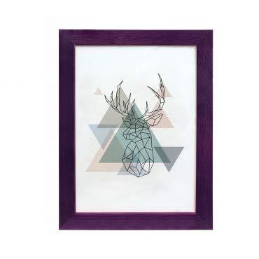 Artepoint Holz Bilderrahmen Natur von 9x13 bis 50x70 Querformat und Hochformat zum Aufhängen Rahmen KIEFERNHOLZ Farbe: Violett - Format 50x70