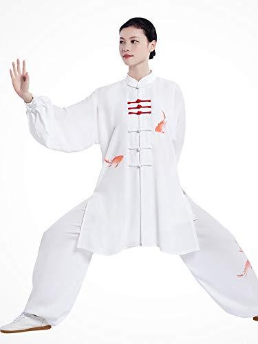 JTKDL Tai Chi Prestatie Kleding Mannen En Vrouwen Martial Arts Prestaties Competitie Pak Zomer Lange Sectie