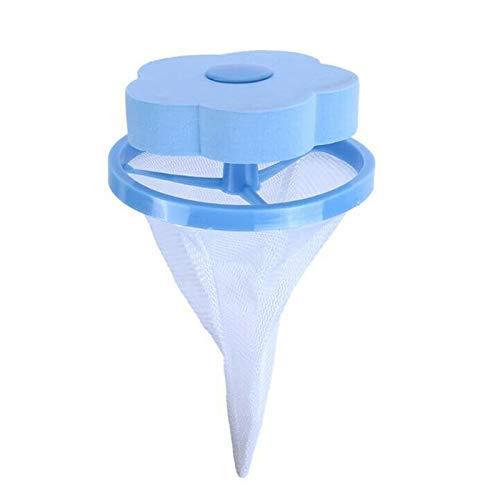 Lanceasy Animal Fourrure Attrapeur, Portable Flottant Animal Fourrure Attrapeur Réutilisable Anti-Poils Outil pour Machine à Laver - Bleu