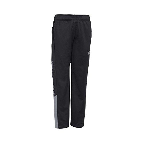 Under Armour Boys' Brawler Pants, Black /Steel, Youth Medium