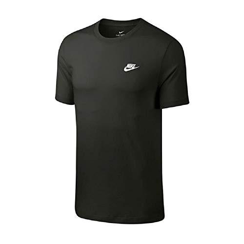 Nike Herren M NSW Club Tee T-Shirt, Sequoia/(White), M