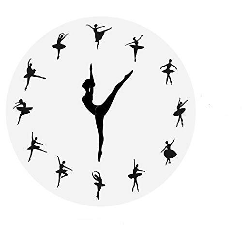 Reloj de pared creativo Yoga Posturas reloj de pared gimnasio fitness flexible chica silencioso moderno reloj decoración del hogar meditación decoración reloj pared