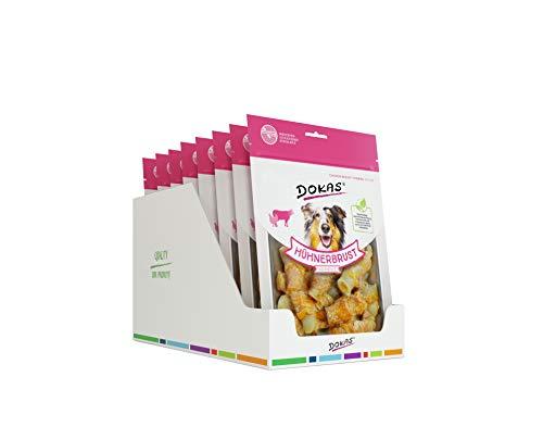 DOKAS Getreidefreier Premium Kausnack mit Hühnerbrust für Hunde – Ideal für zwischendurch, 8 x 250 g