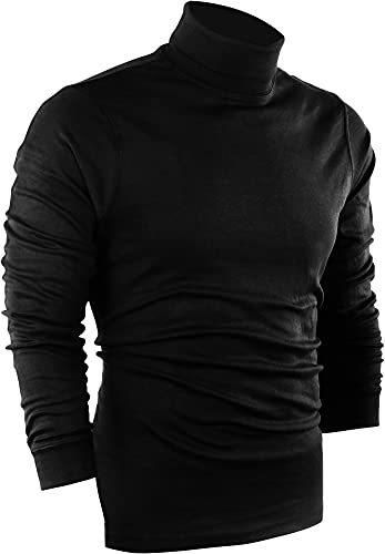 Utopia Wear Premium Cotton Blend Interlock Turtleneck Men T-Shirt Pullover Sweater | Amazon.com