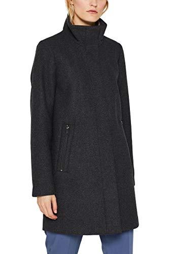 ESPRIT Damen 099Ee1G014S Mantel, Grau (Dark Grey 020), X-Large (Herstellergröße: XL)