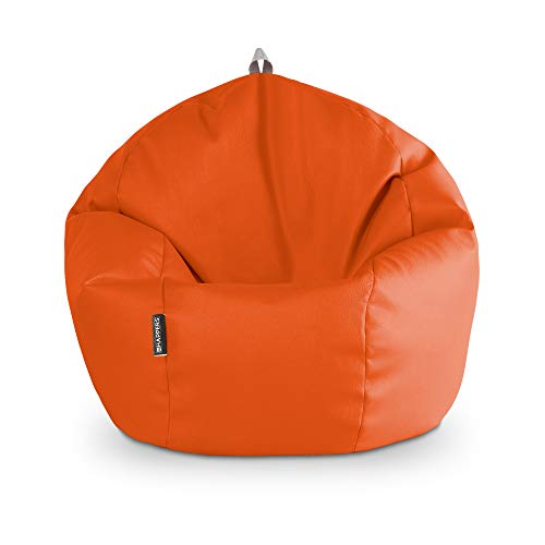 HAPPERS Puff Pelota Polipiel Indoor Naranja