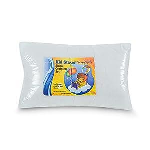 Kids Starter Sets Value Bundle Single 10.5 Tog Duvet + Pillow + Pillow Protector + Mattress Protector All In Polypropylene