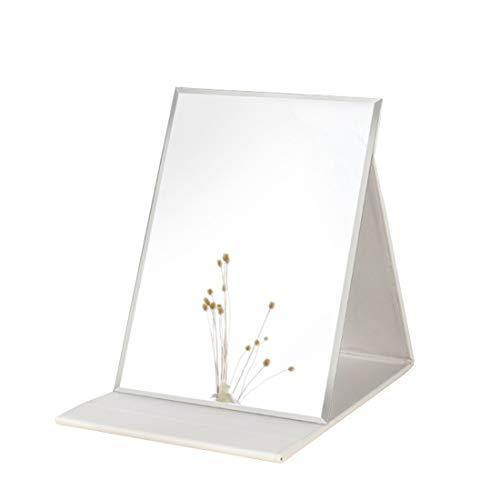 Zcooooool Specchio Specchio per il trucco Super HD portatile grande Specchio per trucco multi-stand Angolo libero / portatile / da tavolo Specchio pieghevole