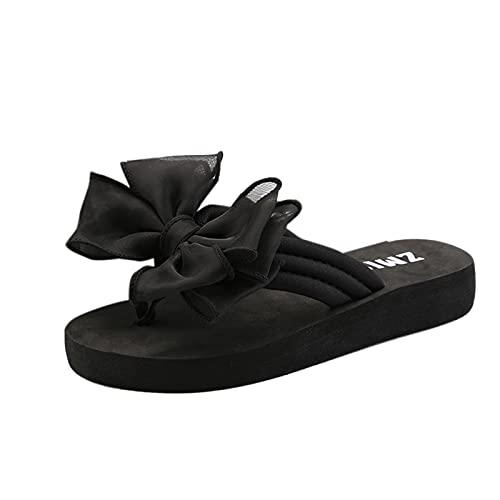 Sandalias de verano para mujer, con mariposas, chanclas con plataforma, para la playa, para interiores y exteriores