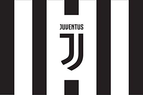 Offizielle Flagge Juventus Juve cm. 65 x 50 B/N