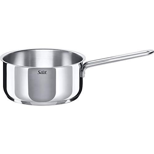 Silit Style Stielkasserolle 16 cm, ohne Deckel, Kochtopf 1,5l, Milchtopf, Edelstahl poliert, Topf Induktion, unbeschichtet, backofengeeignet