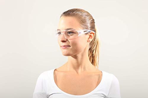 Dräger Schutzbrille X-pect 8330 | Leichte einstellbare Sicherheitsbrille | Für Baustelle, Werkstatt, Fahrrad-Fahren, Joggen | Klar, Kratzfest und beschlagfrei | 10 St. - 4