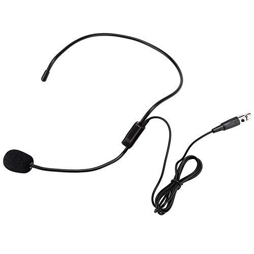 Mini XLR 3 pines TA3F Micrófono inalámbrico profesional para la cabeza, Micrófono de diadema con reducción de ruido, Micrófono de condensador de electrodo direccional en forma de corazón