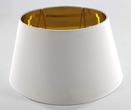 Oval-Lampenschirm-konische-Form (WEISS 20 * 30 * 18cm)