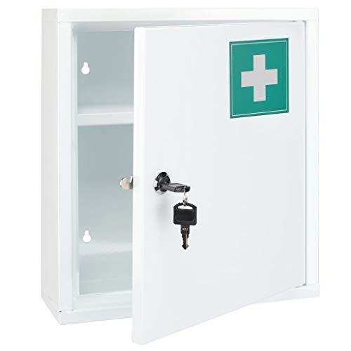 *Haushalt International Medizinschrank aus Stahl – 31.5 x 10 x 36 cm*
